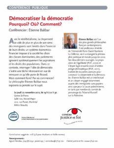 Démocratiser la démocratie - Pour en savoir plus sur la conférence