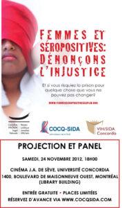 Femmes et séropositives - Affiche de l'événement