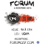 Forum QSF_20 ans