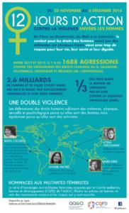 Infographie sur la violence faite aux défenseures des droits des femmes