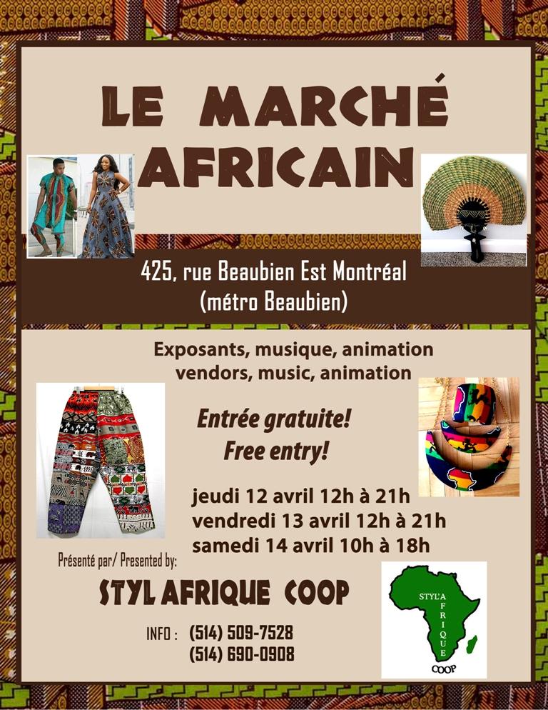 Marché africain de Noël