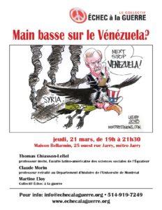 Main basse sur le Vénézuela?