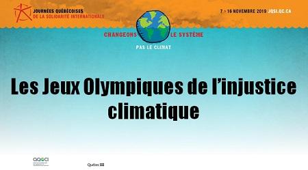 Jeux olympiques de l'injustice climatique