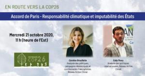 COP26 - Webinaire 21 octobre 2020
