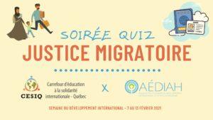 Quiz justice migratoire
